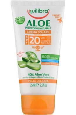 EQUILIBRA Aloe Napvédő krém FF20 75ml