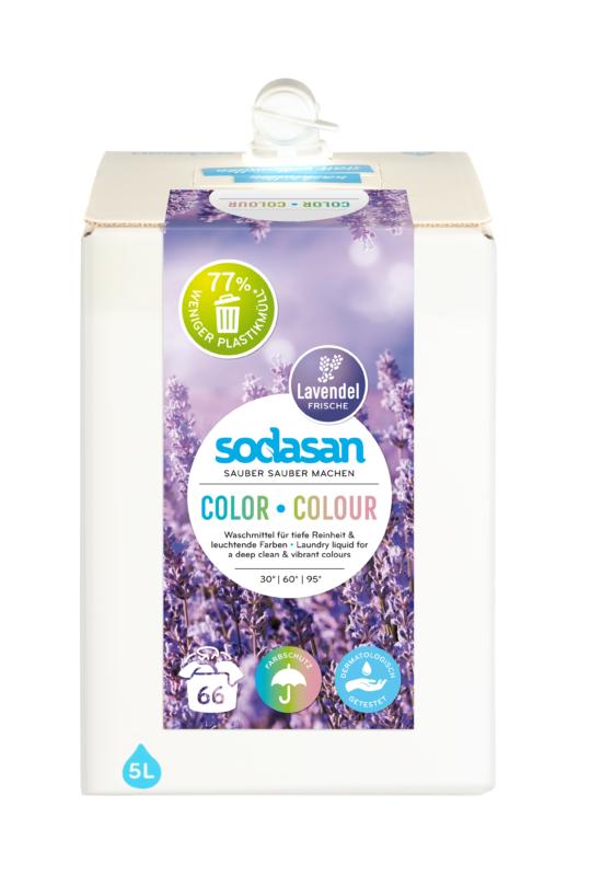 SODASAN Öko folyékony mosószer színes ruhákhoz - Levendula 5 l