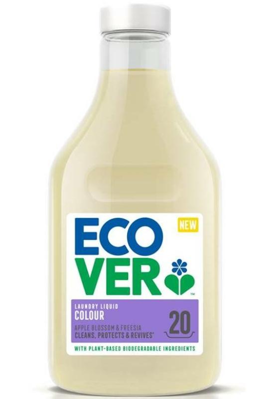 Ecover Öko folyékony mosószer Almavirág-frézia illattal 1l - színes ruhákhoz