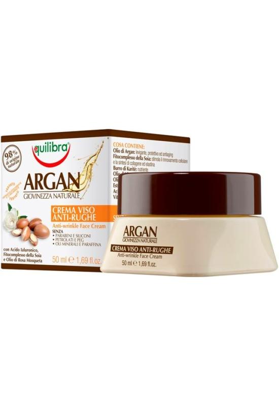 EQUILIBRA Argán Ránctalanító arckrém - Hialuronsavval 50 ml