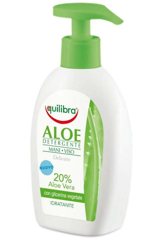 EQUILIBRA Arc- és kéztisztító Aloe Verával (20%) 300ml