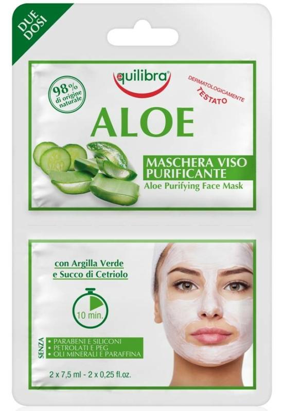 EQUILIBRA Aloe tisztító arcmaszk 2x7,5 ml