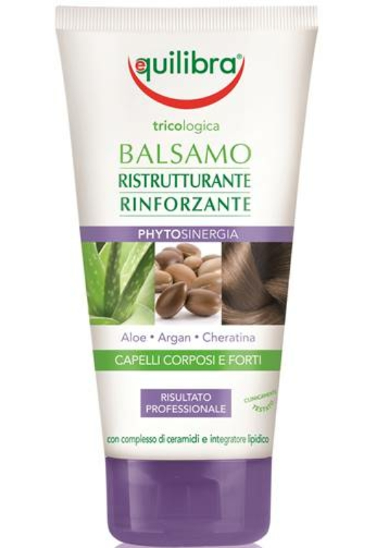 EQUILIBRA Újjáépítő-erősítő balzsam -  Dús és erős haj 200 ml