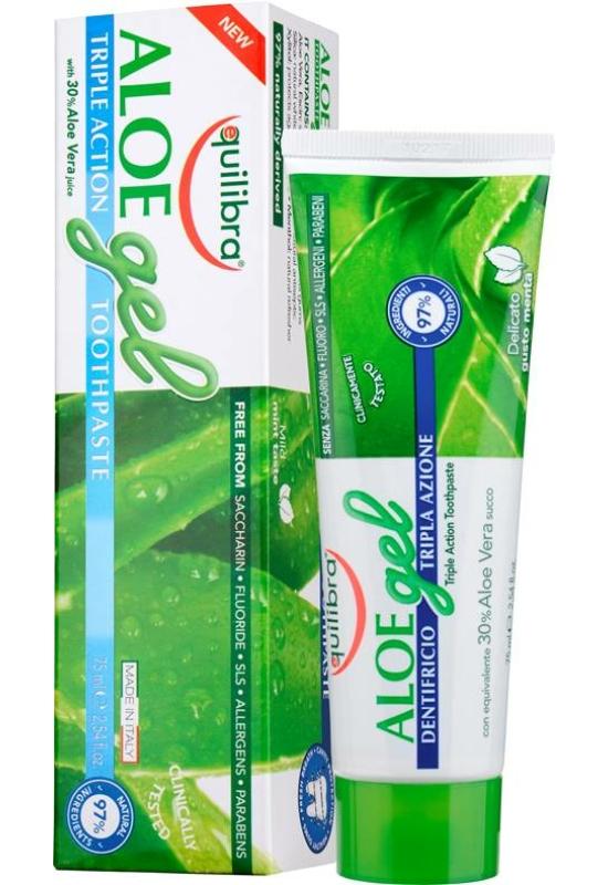EQUILIBRA Aloe Hármas hatású fogkrém 75 ml