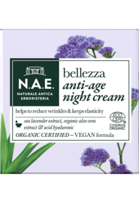 N.A.E. bio öregedésgátló éjszakai arckrém BELLEZZA 50ml