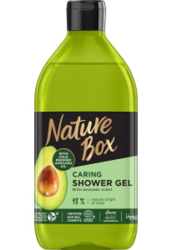 Nature Box tusfürdő  Avokádó a táplált bőrért 385 ml