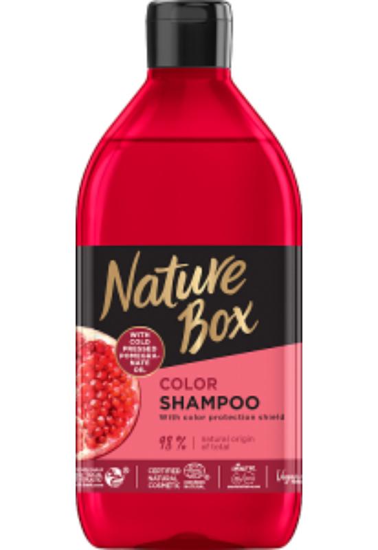 Nature Box Gránátalma sampon festett hajra 385 ml