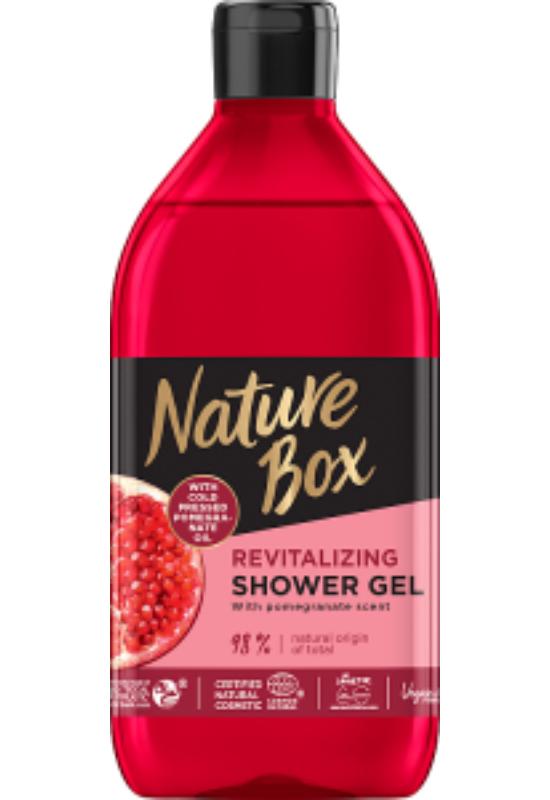 Nature Box Gránátalma tusfürdő a hidratált bőrért 385 ml