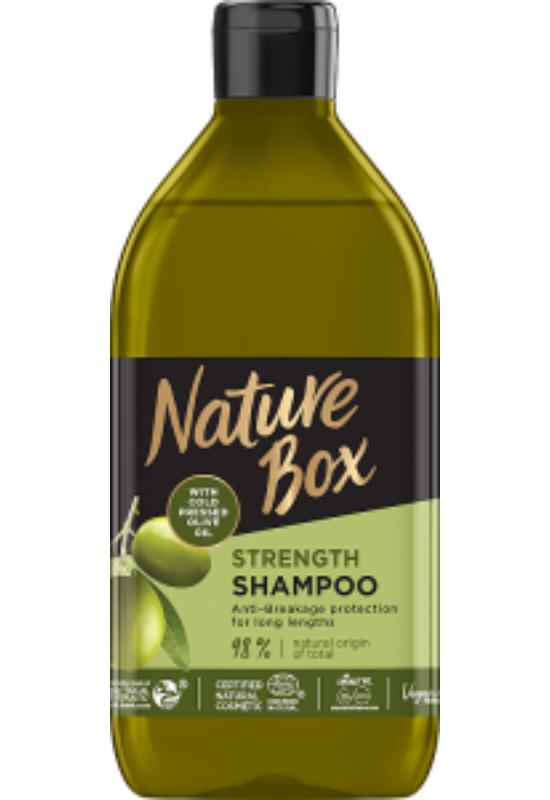 Nature Box sampon Olíva hosszú hajra 385 ml