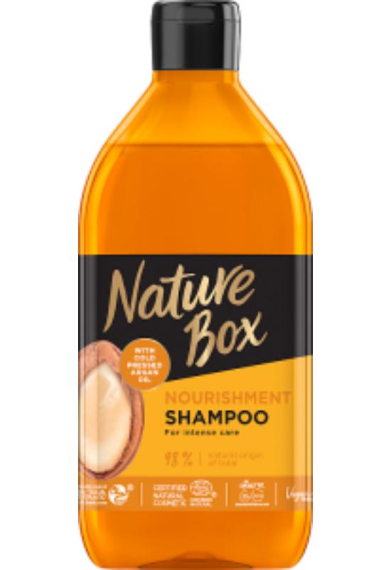 Nature Box sampon Argán olajjal a puha hajért 385ml