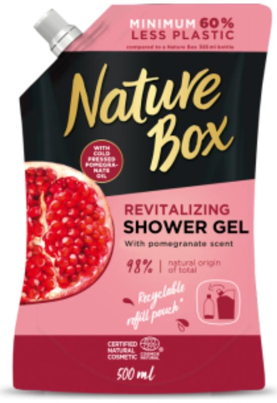 Nature Box tusfürdő utántöltő Gránátalma