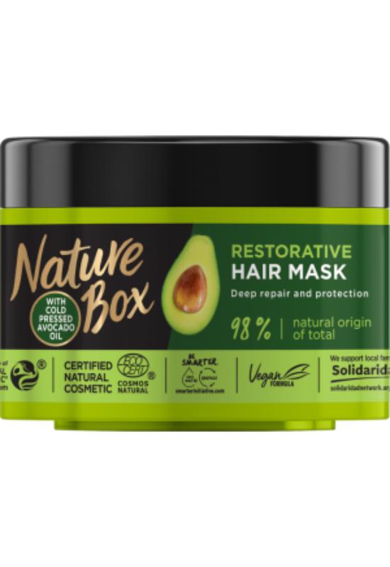 Nature Box Avokádó hajpakolás a regenerált hajért 200 ml