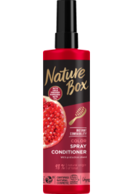 Nature Box hajregeneráló balzsam Express Repair Gránátalma festett hajra 200 ml