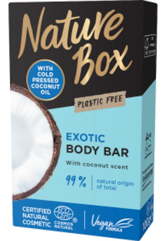 Nature Box szilárd tusfürdő Kókusz az ápolt bőrért 100 g