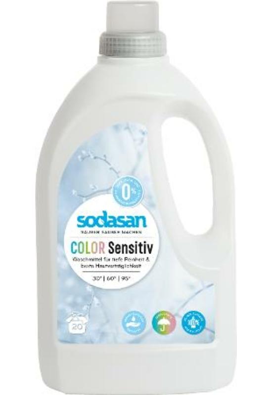 SODASAN Öko folyékony mosószer színes ruhákhoz - Sensitive 1,5 l